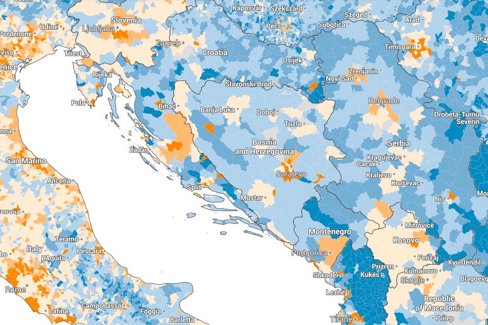 Gdje u BiH i Evropi stanovništvo raste a gdje se smanjuje? [Interaktivno]