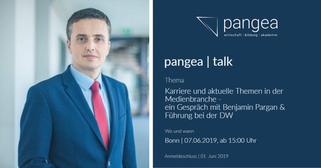 pangea | talk – Thema: Karriere und aktuelle Themen in der Medienbranche – 07.06.2019 in Bonn