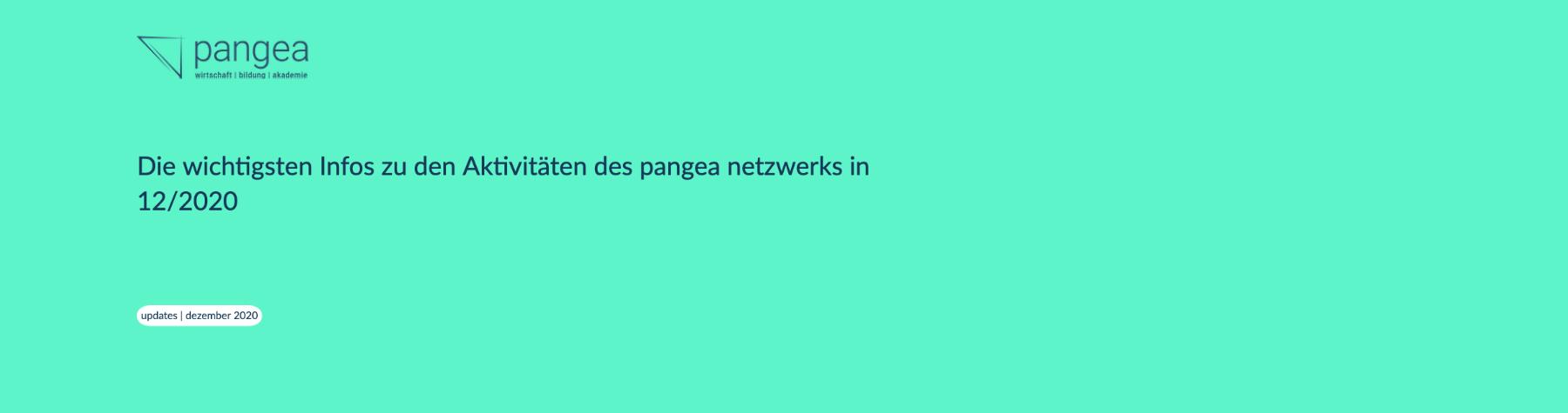pangea update | Dezember 2020