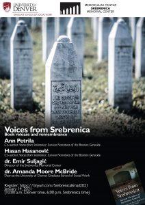"""voices of srebrenica 212x300 - Buchveröffentlichung """"Voices from Srebrenica"""" -  Donnerstag, 14. Januar 2021"""