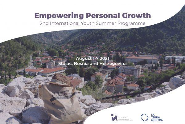 """empowering personal growth website 600x403 - Prijavite se na 2. međunarodni ljetni program mladih """"Empowering Personal Growth"""" u Stocu"""